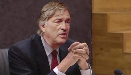 Ron Brandsteder voor de commissie-De Wit