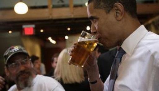 Obama met bier - Cc De Speld