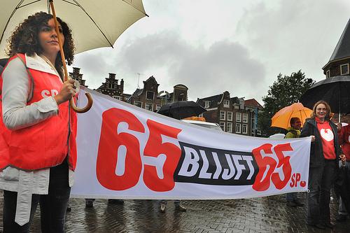 SP in protest - FLickr gebruiker: Newsphoto Amsterdam