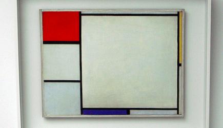 Bekend Schilderij Mondriaan hing jarenlang op de kop KE88