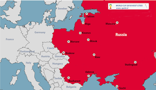 Russia Announces World Cup Hosting Cities De Speld - Russia world map
