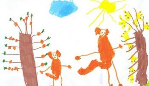 Tekening van apen