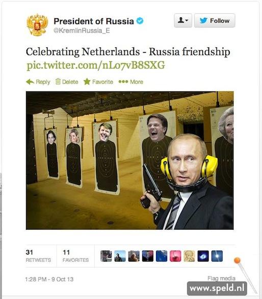 Viering Nederland - Rusland
