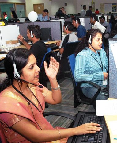 A Call Centre.-Bangalore