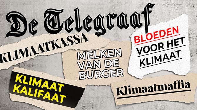 Liegende Telegraaf 'Berichtgeving klimaatactiviste mist essentiële info'