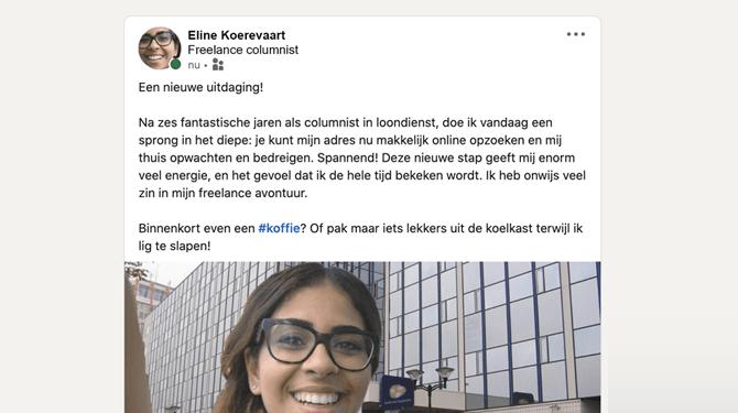 Vrouw deelt op LinkedIn dat mensen haar na KvK-inschrijving nu ook thuis kunnen bedreigen