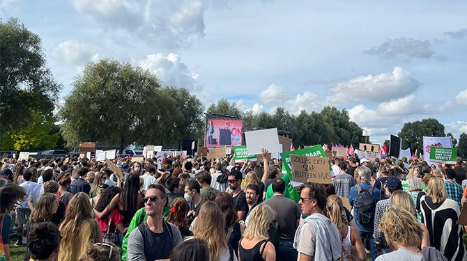 Helaas: afterparty na Woonprotest kan bij niemand